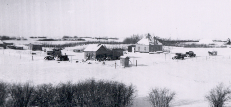 Irvine Farm Yard - Saskatchewan
